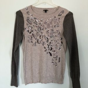 Express Animal Print Sequin Sweater Size  M